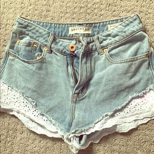 Bullhead high-waisted shorts